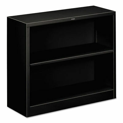 HON Metal Bookcase, Two-Shelf, 34-1/2w X 12-5/8d X 29h, Black S30ABCP NEW