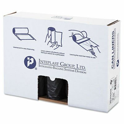 Inteplast Group LD Can Liner 60gal Black 20/roll 5 Rolls/carton SLW3858SHK NEW