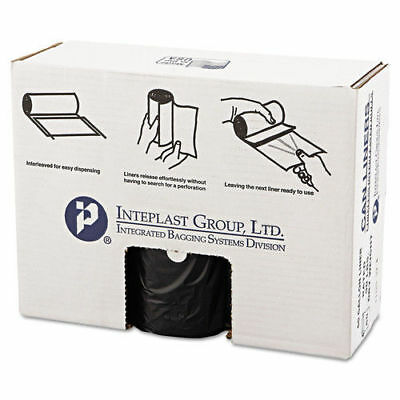 Inteplast Group HD Can Liner 60gal Black 25/roll 6 Rolls/carton VALH3860K22 NEW