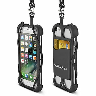 2 in 1 Cell Phone Lanyard Strap Case, Universal Smartphone Neck Laniard