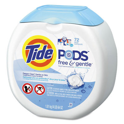 P&G Professional Free & Gentle Laundry Detergent, Pods, 72/pack, 4/carton  89892