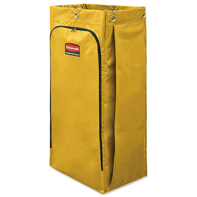 Rubbermaid Vinyl Cleaning Cart Bag, 34 Gal, Yellow, 17 1/2w X 10 1/2d X 33h New