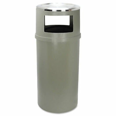 Rubbermaid Ash/trash Classic Container W/o Doors,Round,25gal,Beige 818288BEI NEW