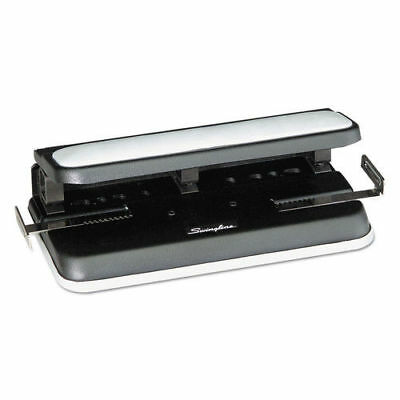 """Swingline 32-Sheet Easy Touch 2-7 Hole Punch 9/32"""" Holes Black/gray 74300 NEW"""