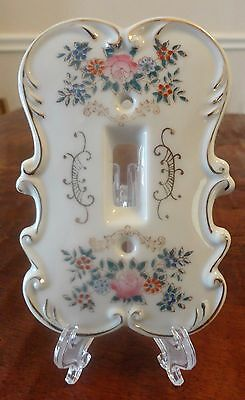 REPURPOSED - Old Arnart Japan Hand Painted Porcelain Light Switch Cover Plate #2