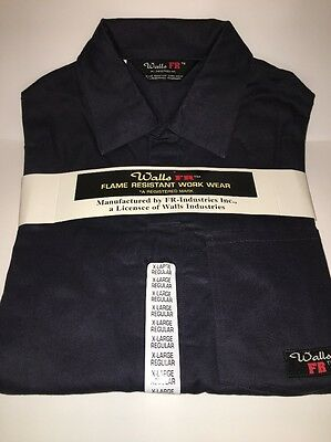 Walls FR flame resistant work navy blue (46-48) xl reg NWT NEW Deluxe Coverall
