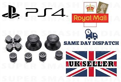 Black Metal Buttons Set For Ps4 Controller Dualshock 4 Replacement Mod - New