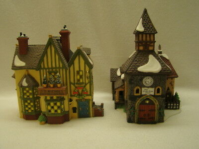 Dept.56 Dickens Village Series Olde Camden Town Church and J.D. Nichols Toy Shop