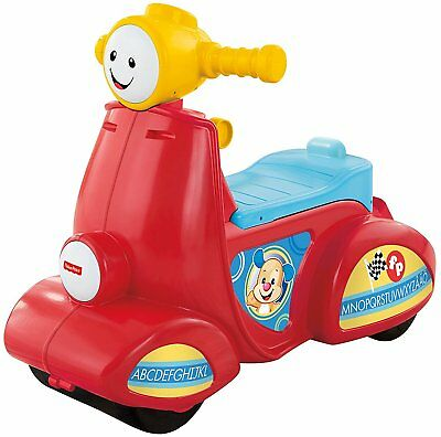 Fisher-Price Laugh & Learn Smart Stages Scooter, Baby Interactive Multi-lingiual
