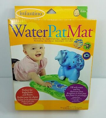 Infantino Baby Water Pat Mat 6+ Mos Inflatable Elephant Water Play Toy