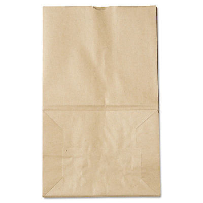 Paper Bags & Sacks #20 Squat Paper Grocery Bag, 40lb Kraft, Std 8 1/4 X 5 15/16