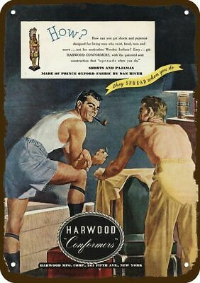 1946 HARWOOD CONFORMERS MEN'S UNDERWEAR Vintage Look Replica Metal Sign - 2 MEN