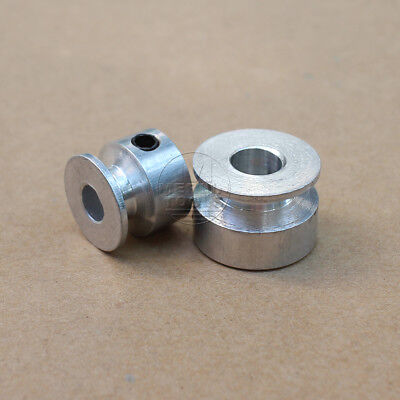 OD 16mm to 40mm -  V-Groove Pulley With Fixed Screw - 4mm to 16mm Bore - Select