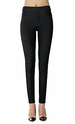 Isolde - Skinny Black Indigo Jegging Super Stretch Knit Denim for Women with XL