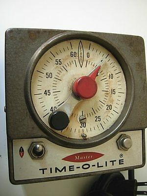 Photo TIME-O-LITE Model M-59 Professional INDUSTRIAL TIMER Dark Room 60 Second