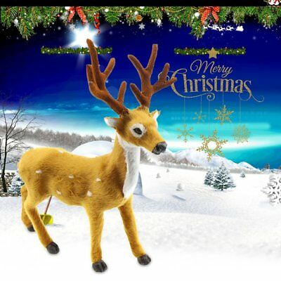 Lovely Simulation Reindeer Christmas Ornament Plush Deer Christmas Decorations P