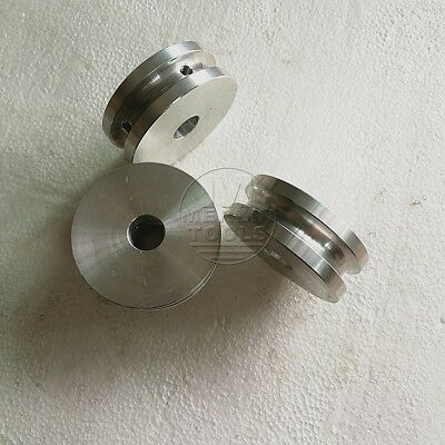 50mm Diameter - 12 to 20mm Bore - V-Groove Flat Pulley - Select Size