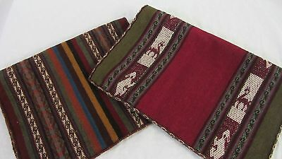 placemats wool Peru table runner woven textile
