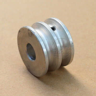 30mm Diameter - Double V-Groove Pulley Flat - 6 to 15mm Bore - Select Size