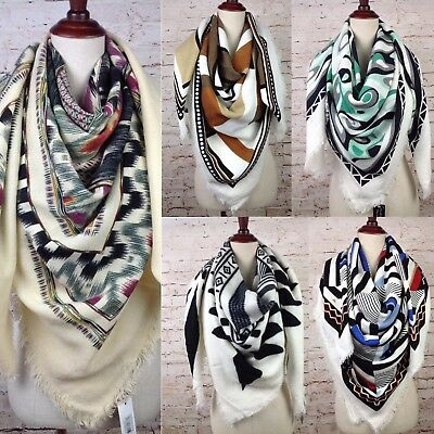 NEW Womens Oversized Aztec Tribal Blanket Scarf Boho Wrap XL Square Shawl Poncho