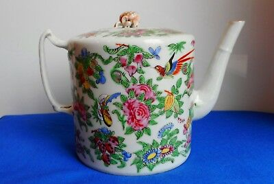 Antique Chinese Hand Painted Porcelain Teapot, Absolutely Beautiful