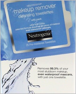 Neutrogena Makeup Remover Facial Towelettes 25/32/50/100 Wipes New Free Shipping