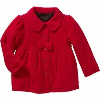 new Girls Toddler Healthtex Essential Peacoat Jacket Coat size 4T Color RED