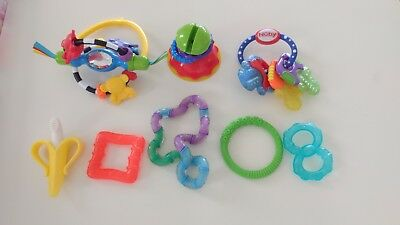 6 Baby Infant Toys Teether Playgro Nuby Banana Toothbrush