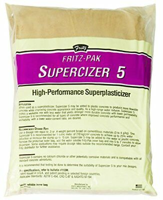 Fritz-Pak Concrete Superplasticizer, 1.2lbs. Cement Additive Improves