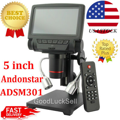 Andonstar ADSM301 5 inch Screen 1080P HDMI/AV Digital Microscope for PCB Repair