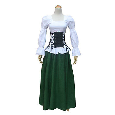 Women Medieval Renaissance Pirate Steampunk Top Blouse Shirt Theater Clothing