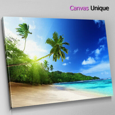 SC364 Tropical Beach Ocean Scenic Wall Art Picture Large Canvas Print