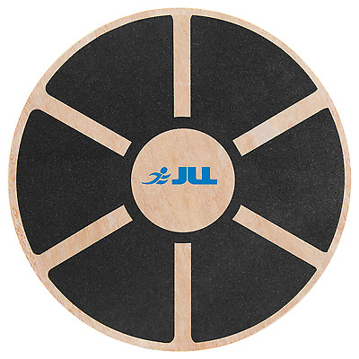 JLL® Wooden Wobble Board Non-Slip Balance Training Exercise Rehabilitation Aid