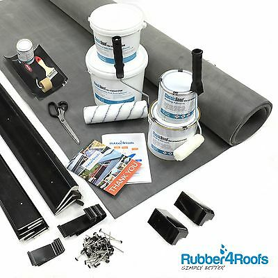 Dormer Flat Rubber Roofing Kit, Includes EPDM Membrane, Adhesives & Roof Trims
