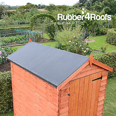 Rubber Roofing Kit For Garden Sheds & Outbuildings, EPDM Membrane & Adhesive
