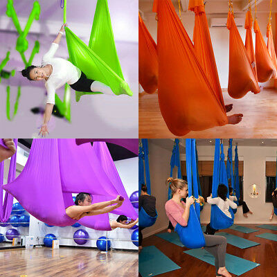 Aerial Yoga Swings Hammock Anti-Gravity Inversion Therapy Swing Gym Train Home
