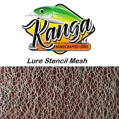 Fishing Lure Stencils, Lure Mesh, stencil wire mesh, lure parts, lure blanks