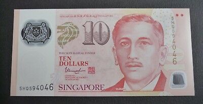 SINGAPORE 2017 PORTRAIT POLYMER $10 DOLLARS W/2 SOLID HOUSE New UNC