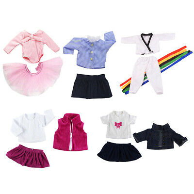 "Dolls Clothes for 18"" American Girl Doll Ballet Dobok Dress Jeans Accs 5suit"