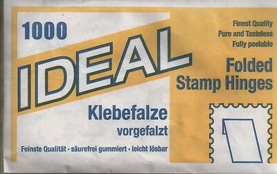 Pack of 1,000 folded stamp hinges - German made, Ideal branded pack
