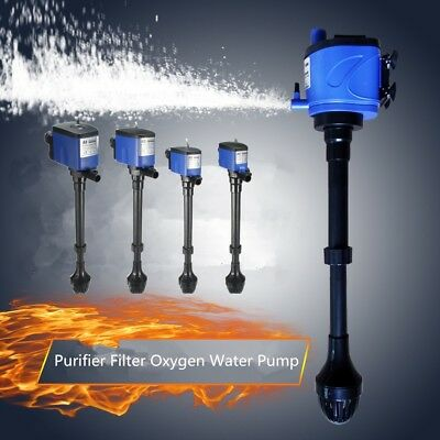 3 in 1 Aquarium Wave Power Internal Purifier Filter Oxygen Water Pump Fish Tank