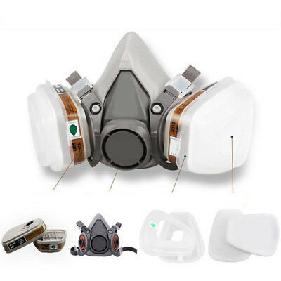 KF_ Set 7 in 1 6200 Gas half Face Mask Spray Painting Protection Respirator Qu