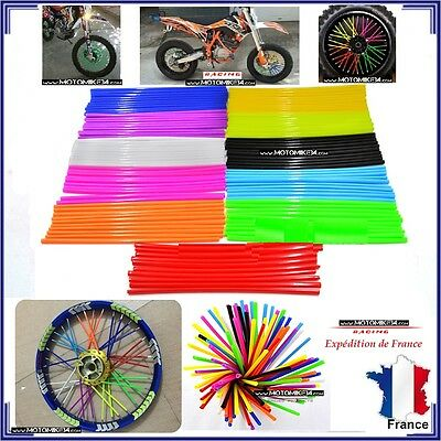 Couvre Rayon Jaune Fluo Moto Cross Mx Enduro Roue Jante A Rayon Cover