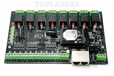 USR-IO88 Wifi Networking Relay Board w/8 Inputs and Outputs & Remote Control