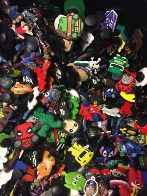 50x Mixed Boys Character Shoe Charms Wristband