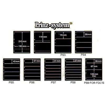 Prinz System double sided standard punching stock pages per 10 choice of strips
