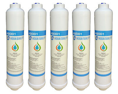 5 x In Line Fridge Water Filters Compatible with Samsung, Daewoo, LG etc. (AQ)
