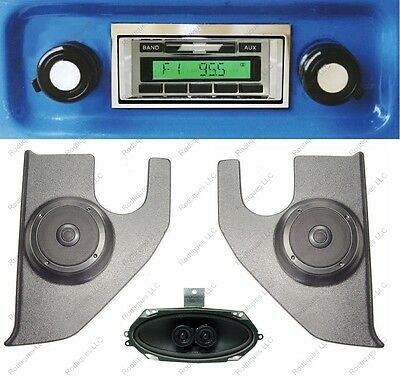 1967-72 Chevy Truck Radio Pioneer Kick Panels, Stereo Dash Speaker,No AC 630-PKD