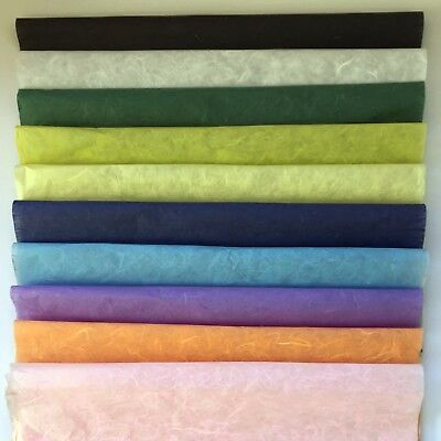 Mulberry hand made paper, 500x700mm, 9 colours