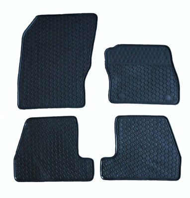 Tailored Heavy Duty Black Moulded Rubber Car Floor Mats Ford Focus 2011-2014